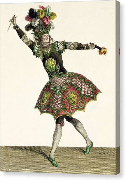 Fashion Plate Canvas Print - Costume For A Demon In Armide, Psyche by Jean Baptiste Martin
