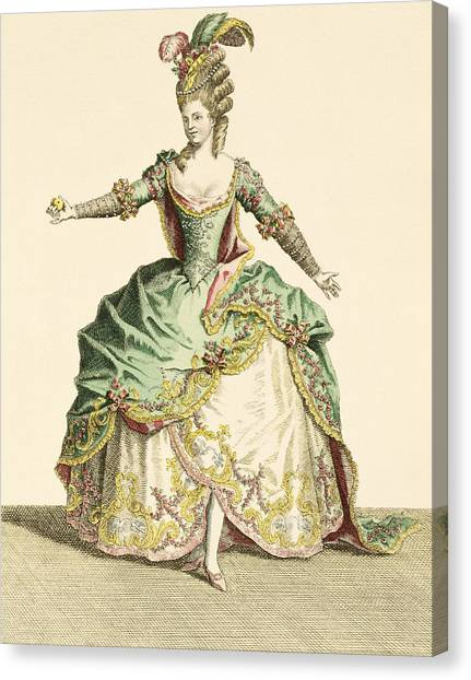 Fashion Plate Canvas Print - Costume For Venus In Several Operas by Jean Baptiste Martin