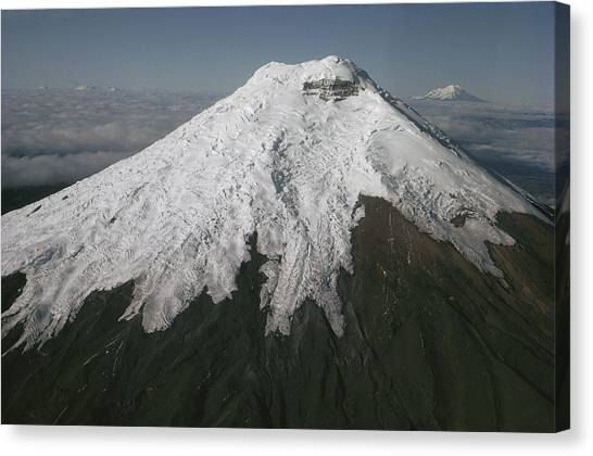 Cotopaxi Canvas Print - Cotopaxi Volcano Above The Andean by Tui De Roy