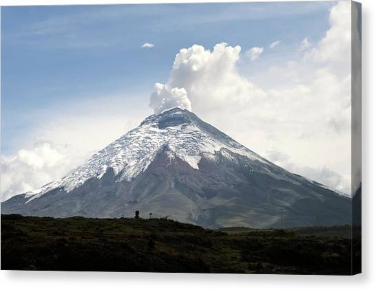 Cotopaxi Canvas Print - Cotopaxi Volcano Erupting by Sinclair Stammers/science Photo Library