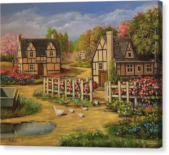 Cottage House Canvas Print