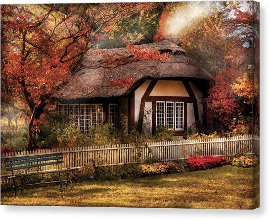 House Canvas Print - Cottage - Nana's House by Mike Savad