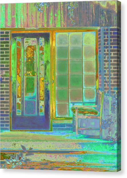 Cottage Porch Canvas Print