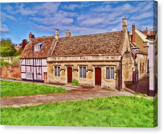 Cottages Devizes -2 Canvas Print
