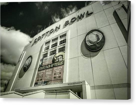 Superbowl Canvas Print - Cotton Bowl by Joan Carroll