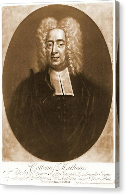 Cotton Mather 1728 Canvas Print by Padre Art