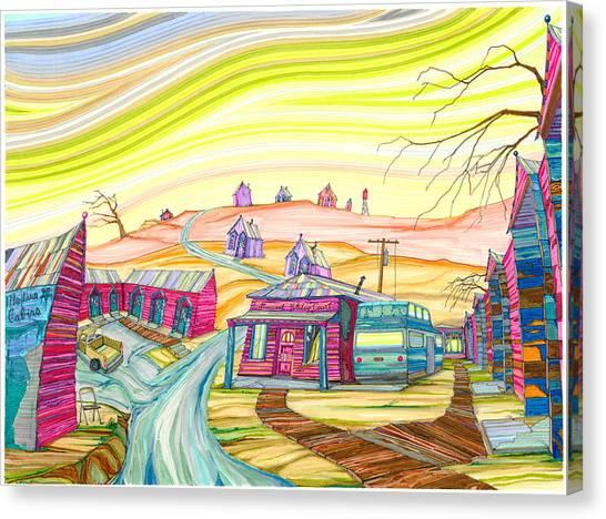 Cottonwood Holiday Court Canvas Print