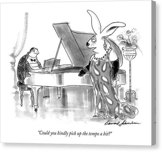March Hare Canvas Print - Could You Kindly Pick Up The Tempo A Bit? by Bernard Schoenbaum