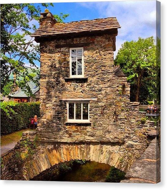 Quirky Canvas Print - Couldn't Go To Ambleside And Not Take by Steve Jones
