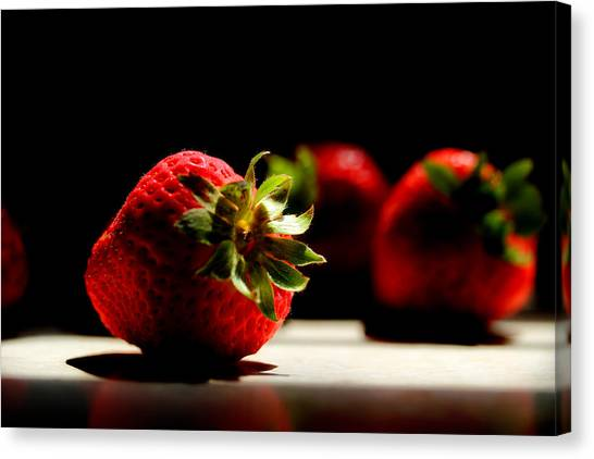 Countertop Strawberries Canvas Print