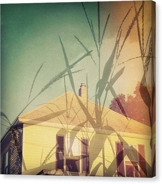 Jerseys Canvas Print - Counting The Days #house #corn by Red Jersey