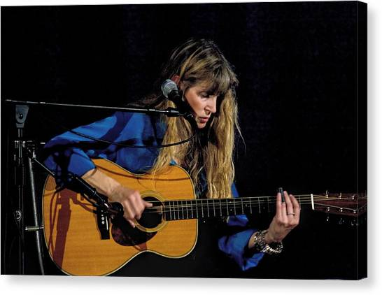 Folk Singer Canvas Print - Country Blues Singer Rory Block In Concert by Randall Nyhof