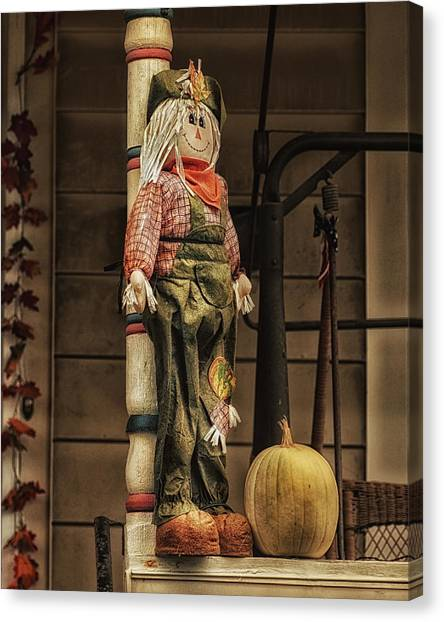 Scarecrows Canvas Print - Country Bumpkin by Susan Capuano