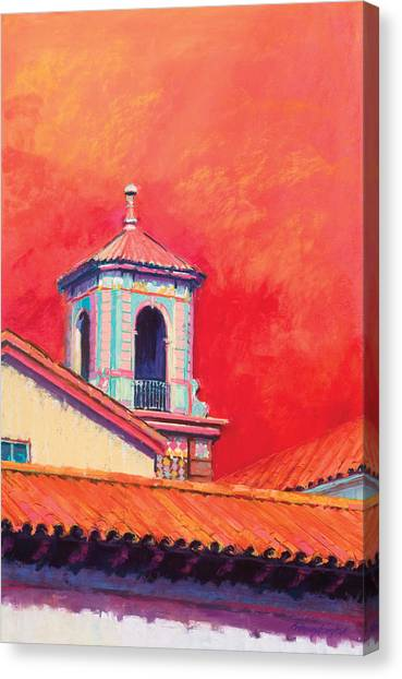 Country Club Plaza Canvas Print by Beverly Amundson
