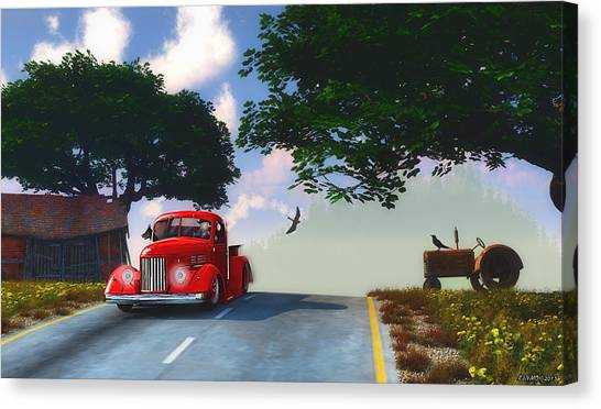 Country Cruise Canvas Print