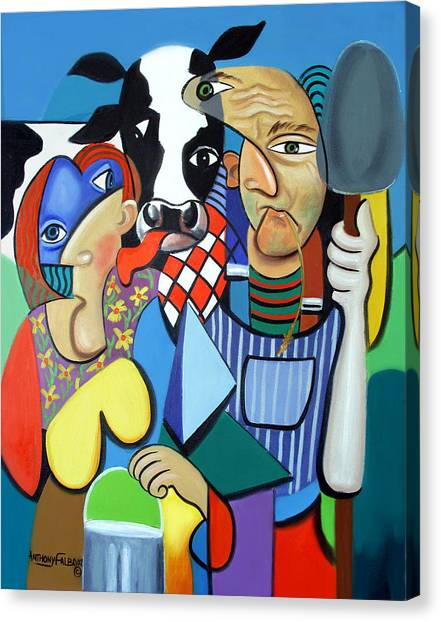 Cubism Canvas Print - Country Cubism by Anthony Falbo