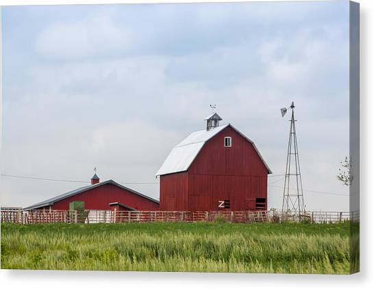 Country Farm Portrait Canvas Print
