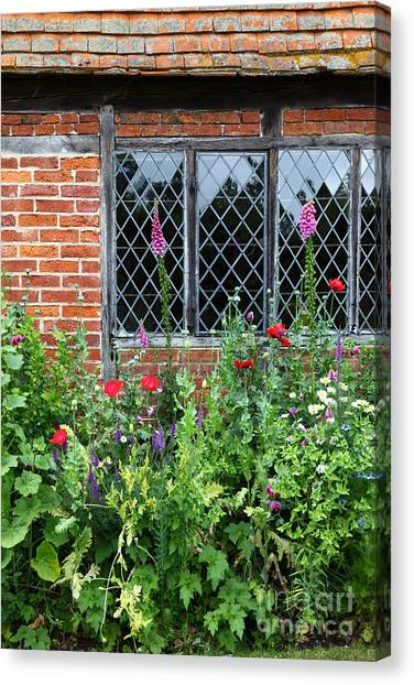 Foxglove Flowers Canvas Print - English Country Garden by James Brunker