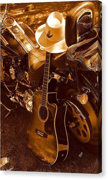 Country Harleys Canvas Print