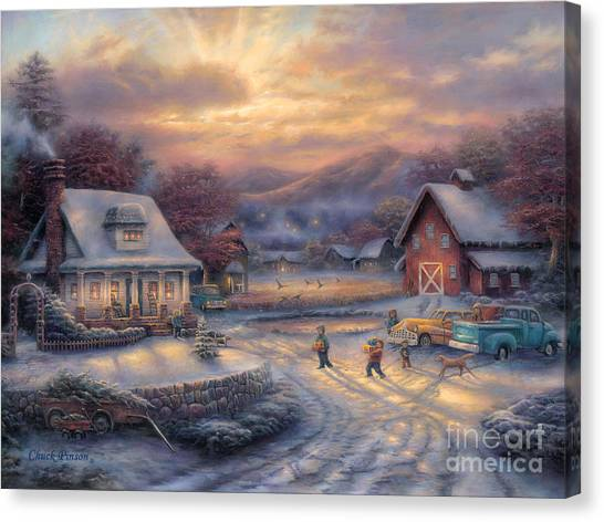 Presents Canvas Print - Country Holidays by Chuck Pinson