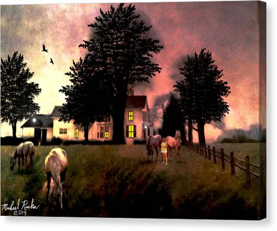 Canvas Print - Country Home by Michael Rucker