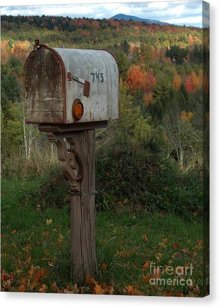Country Mail Box Canvas Print