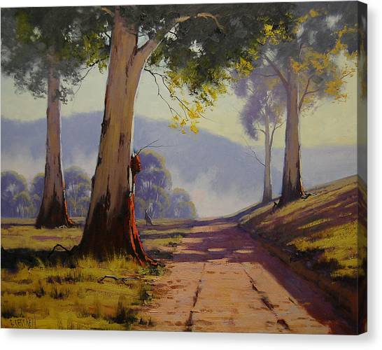 Kangaroo Canvas Print - Country Road Australia by Graham Gercken