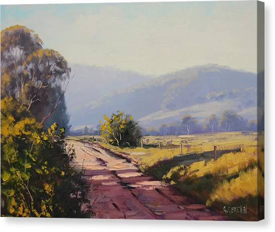 Homestead Canvas Print - Country Road by Graham Gercken