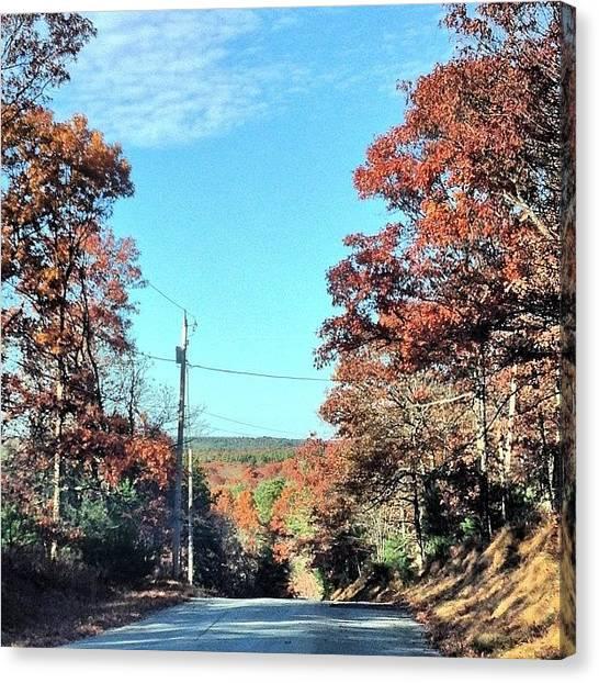 Rhode Island Canvas Print - Country Road In Western Ri by Jason Fourquet