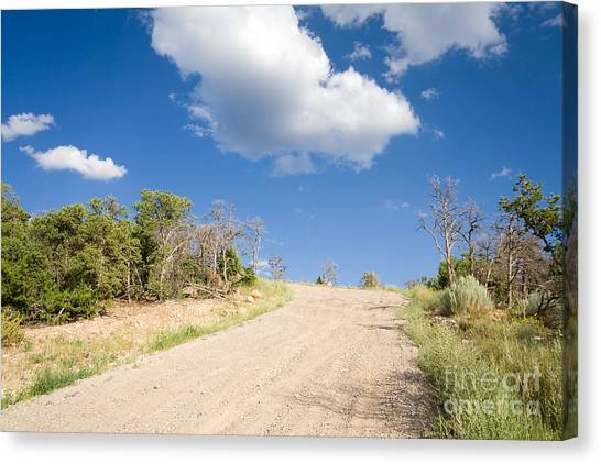 United Way Canvas Print - Country Road by Jim Pruitt