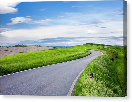 Country Road Canvas Print by Jorg Greuel