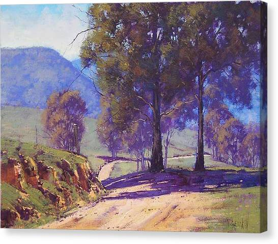 Grazing Canvas Print - Country Road Oberon by Graham Gercken