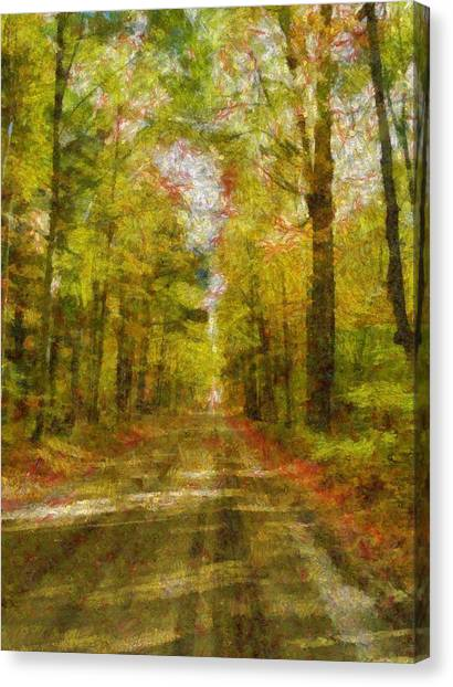 4x4 Canvas Print - Country Road Take Me Home by Dan Sproul