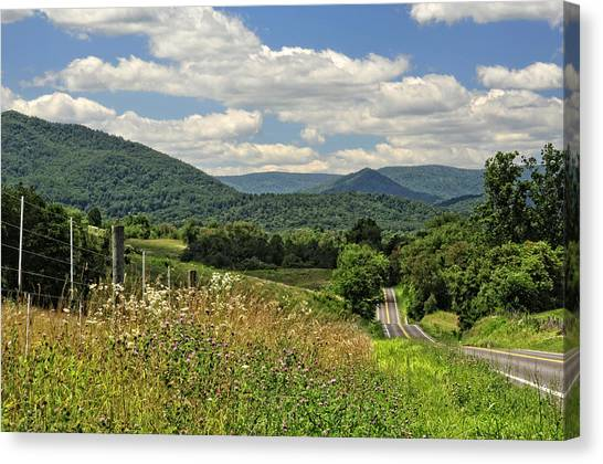 Old Country Roads Canvas Print - Country Roads Take Me Home by Lara Ellis