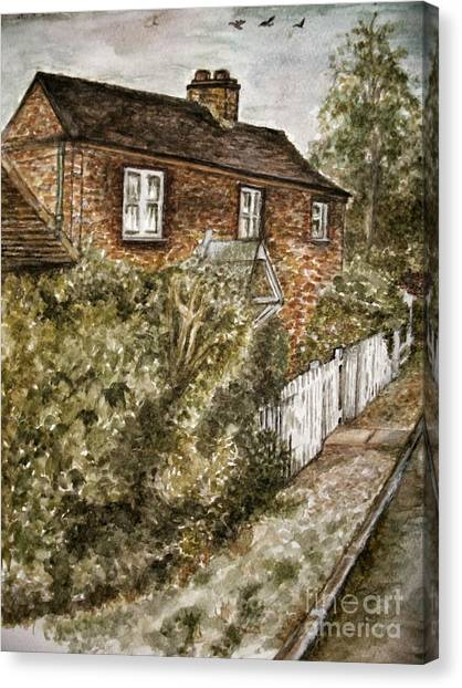 Old English Cottage Canvas Print