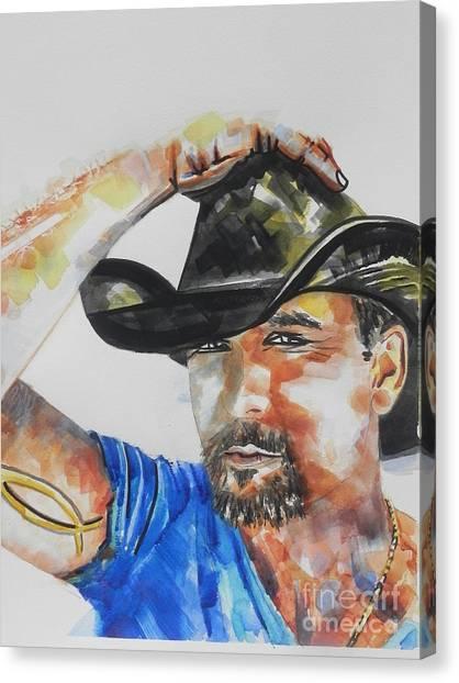 Country Singer Tim Mcgraw 02 Canvas Print