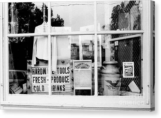 Country Store Window Canvas Print