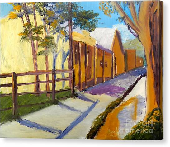 Country Village Canvas Print