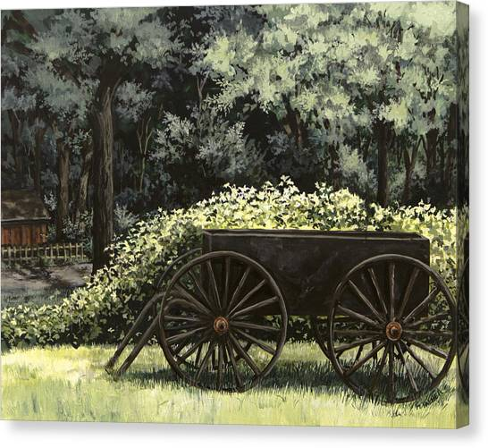 Country Wagon Canvas Print