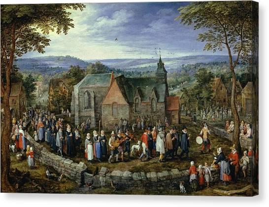 The Prado Canvas Print - Country Wedding by Jan Brueghel the Elder