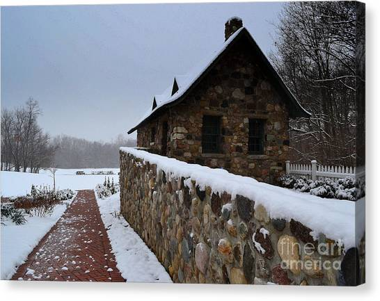 Country Winter Landscape  Canvas Print