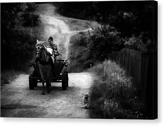 Carts Canvas Print - Countryside Life by Julien Oncete