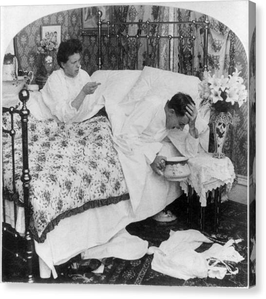 Chamber Pot Canvas Print - Couple In Bed, C1907 by Granger