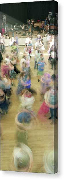 Contra Canvas Print - Couple Performing Contra Dance by Panoramic Images