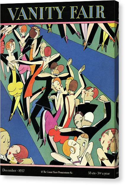 Couples Dancing Canvas Print by A. H. Fish