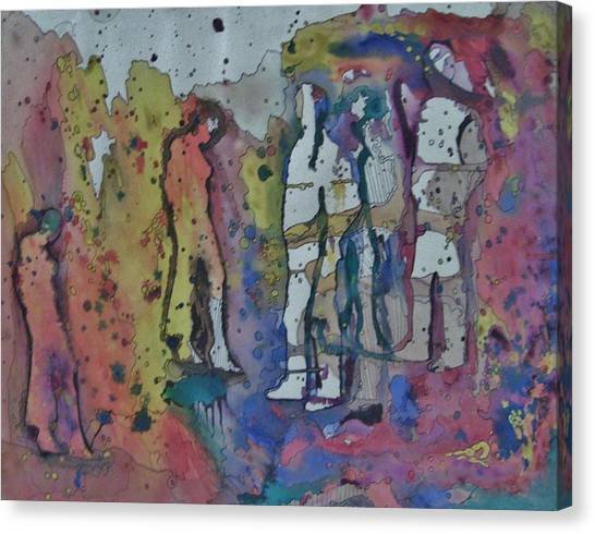 Couples Canvas Print by Mark Greenhalgh