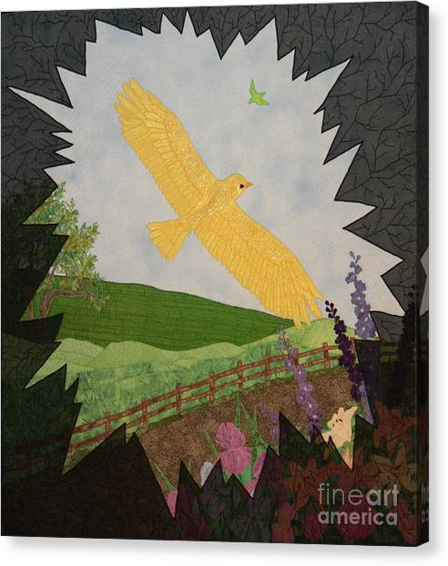 Courage Is The Bird That Soars Canvas Print
