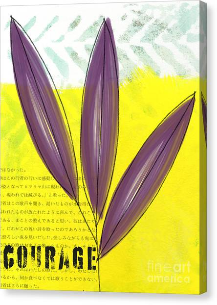 Bamboo Canvas Print - Courage by Linda Woods