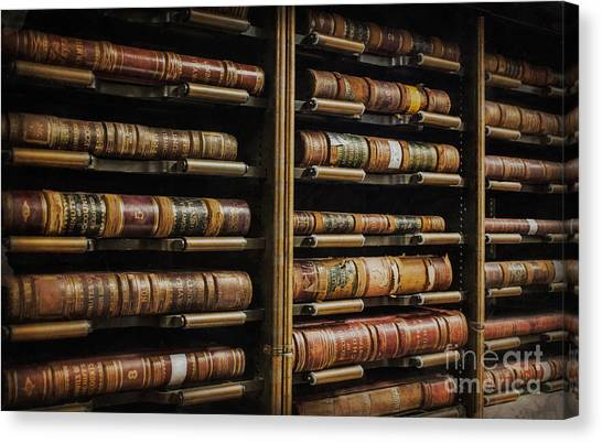 Courthouse Achival Books Canvas Print
