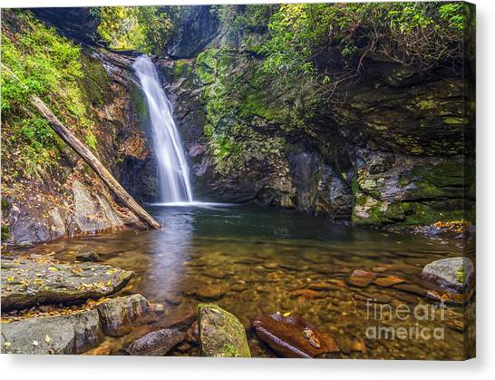 Pisgah National Forest Canvas Print - Courthouse Falls by Anthony Heflin